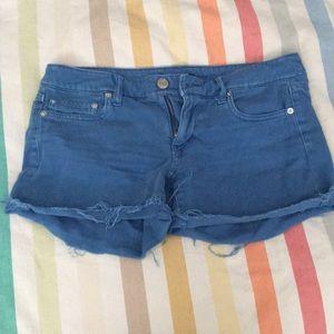 AE blue cutoff shorts
